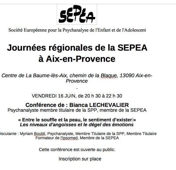 Journées régionales de la SEPEA à Aix-en-Provence
